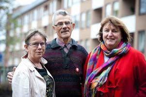 De hoppas på många besökare på Hörselskadades Dag på fredag. Från vänster Anita Skagerud, HRF Dalarna, Ingemar Jackson och Gunnel Ivarsson, vice ordförande respektive ordförande i HRF Borlänge,