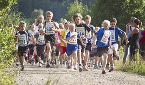 De yngsta sprang två kilometer.