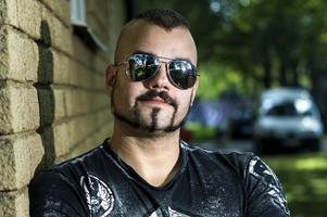 Joakim Brodén, sångare i Sabaton och deltagare i Flipper-SM.