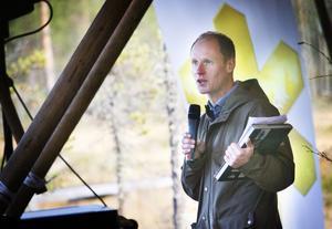 Joakim Lindwall, reporter på Radio Gävleborg, var konferencier.