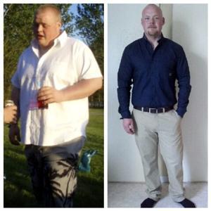 Många kilon har lämnat Christophers kropp.