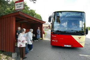Ibland var det många passagerare på bussen till Hemlingby.