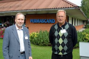 Hans Stenberg hade sällskap av kommunalrådet Sten-Ove Danielsson vid sitt besök hos högteknologiföretaget Permascand i Ljungaverk