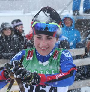 Ebba Andersson, Sollefteå, bäst i yngre juniorklassen och före flera seniorer.