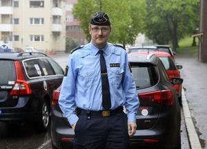 Mikael Ahrtzing, presskommunikatör vid polisen i Sundsvall.