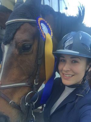 Gestrike SR:s Johanna Frunck/Spirello vann på Nationaldagstävlingarna.