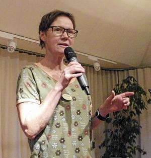 Ingela Blomström berättade om hur det är att arbeta inom Svenska kyrkan.