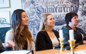 Beverly Law, Frida Kling och Karin Edman när Företagarna i hudiksvall utsåg årets UF-företagare i Hudiksvall.