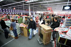 En MediaMarkt-butik under förra årets Black Friday.