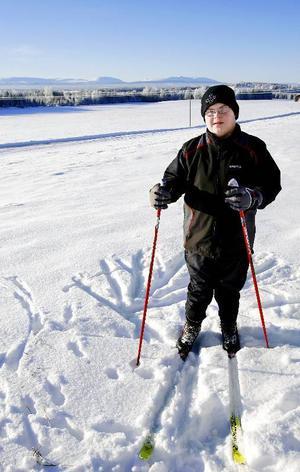 15-årige Erik Norelius från Ålsta har tränat varje dag inför OS i Idaho, ibland har han kört upp till sju kilometer. Foto: Henrik Flygare