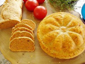 Vacker form kan man få på sina bröd genom att baka dem i sockerkaksformar.
