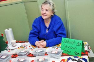 Anna-Greta Svärd, eldsjäl i arrangörsföreningen, var nöjd med utfallet på julmarknaden.
