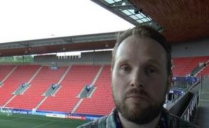 Sportens utsände, Kristian Bågefeldt, på plats på Eden Arena i i Prag i kväll.