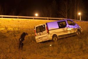 Trafikolyckan vid Dalahästen natten mot lördagen.