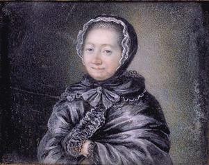 Porträtt av  Jeanne-Marie Leprince de Beaumont, författaren till den mest kända versionen av