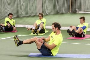 Vadim Arkhipkin, Filip Skoglund och Eetu Pehukuri fick känna på Anders Södergrens träningsmetoder.