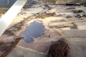 SETT FRÅN OVAN. Här är en flygbild över Bysjön som ligger i Hästbo söder om Torsåker.