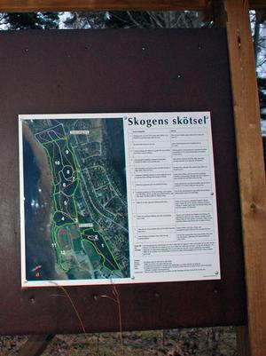 Skötselplanen för Lugnets-Barkdals naturreservat finns att studera på en informationstavla.