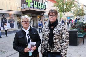 Pirkko Koski och Liselotte Lundgren.