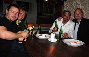 Tabazco. Felix, Johan, Benny och Magnus