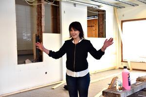 Maria, från Älvdalen, ser fram emot att öppna restaurangen nära sina hemtrakter.