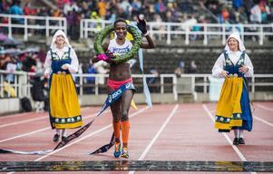 Isabellah Andersson, Hässelby SK, vann damklassen med tiden 02:34:14.