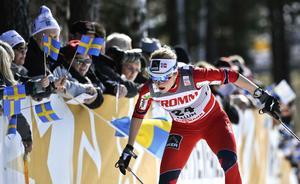 Marthe Kristoffersen – här i Falun 2012, när hon blev trea i sprintprologen.
