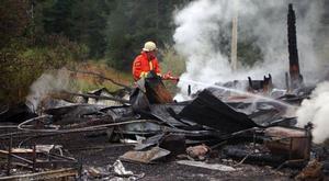Eftersom huset var helt övertänt när räddningstjänsten i Lofsdalen kom till platsen kunde man inte göra annat än eftersläckningsarbete.