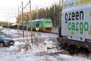 En gång i veckan kommer tågen med flis gå från Tallåsen till Eskilstuna.