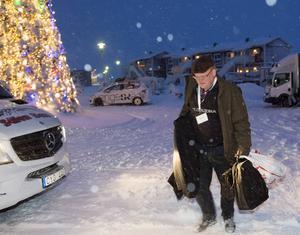 Försvarsminister Peter Hultqvist (S) anländer till Folk och försvars rikskonferens i Dalarna.