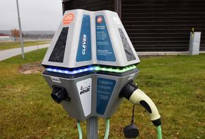 Falu kommun har redan planerat för att installera nya laddstationer för elbilar.  Denna bild föreställer dock en laddstation som finns vid Sundsvall-Timrå Airport.