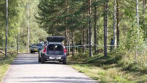 Den 8 september undersökte polisens tekniker ett område i Högbo.
