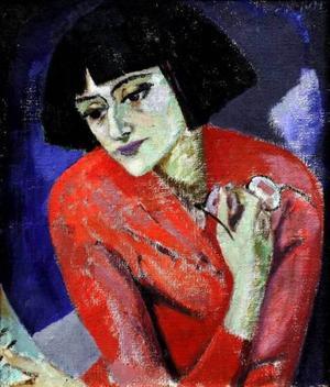 Anna Achmatova målad av Kuzma Petrov-Vodkin 1922.