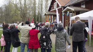 Första maj-firandet i Skinnskatteberg avslutades med arbetarrörelsens kända sång Internationalen.