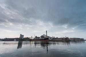 Karlshamns hamn som Karlshamns kommun beslutade låta Nordstream använda för lagring av rör Foto: Magnus Lejhall / TT