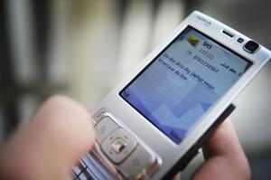 Polisanmälningar om sms-hot ökar i Bollnäs och Ovanåker.