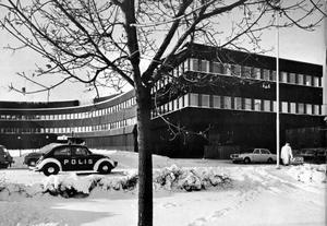 Polishuset i Falun som Jack Hanson ritat i samarbete med Gösta Lilliemarck.