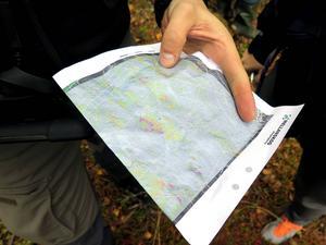 De nya markfuktighetskartorna ska minska körskadorna. Lila färg på kartan indikerar hög fuktighetshalt i marken.