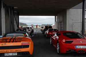 Ett 90-tal snabba och häftiga bilar fanns på plats på Tierp Arena. Syftet för förarna var att ge barnen en upplevelse som fick dem att glömma sjukdomen.