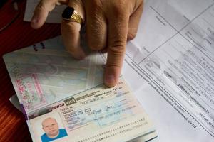"""I Kim Palontos visum stod siffran 1, där det egentligen borde stått """"multivisum""""."""