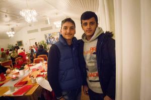 Kompisarna Abdullah och Hassan besökte Jakobsgården.
