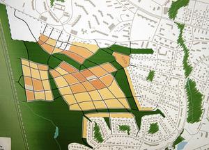 Plan över det nya bostadsområdet Katrinehill, också en fråga som debatteras hårt i Sundsvall just nu och där det gäller att se till att debattnivån hålls hög.