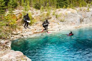 Att dyka i svenska vatten är en stor skillnad jämfört med de tropiska haven.