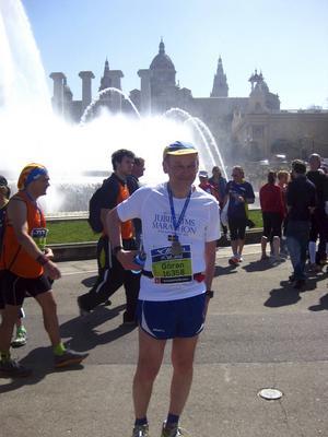 Görans intresse för löpning har medfört att han gjort löparresor över hela världen. Här är en bild från Barcelona, en stad där han gärna springer.
