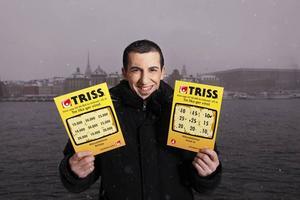 Pizzabagaren Halil Milli från Örbyhus är nu miljonär efter att ha skrapat trisslott i tv. I tio år framåt får han ut 10 000 kronor varje månad.