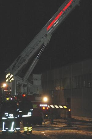 Hög höjd. Silon var placerad på taket till industribyggnaden.