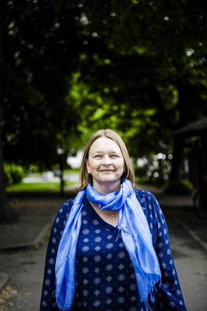 Frilansjournalisten Annika Hamrud undervisar om journalistik på Högskolan i Gävle.