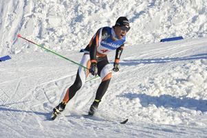 Falun-Borlänges Adam Steen körde förstasträckan för sitt lag.