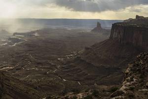 Canyonlands National Park i Utah, USA. Så här såg troligen stora delar av jordens landmassor ut vid den tidpunkt då växterna började erövra torra land.   Chris Detrick/AP/TT