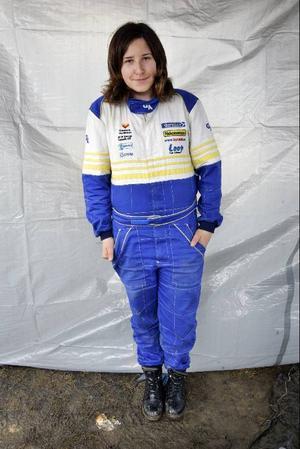 Therese Beckman, 14 år och folkraceförare.